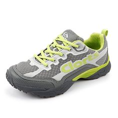 Clorts Womens Athletic Women's Trail Running Shoes Shoe Walking Casual Sneakers Green 3F010F US85 *** More info could be found at the image url.