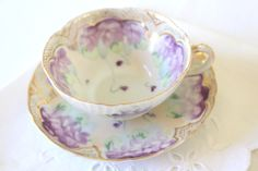 Reserved for W/Mid Century Hand Painted Porcelain Teacup and Saucer Tea Party Replacement China by MariasFarmhouse on Etsy https://www.etsy.com/listing/229672152/reserved-for-wmid-century-hand-painted