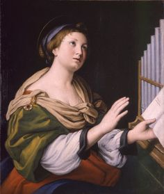 IL SASSOFERRATO. Saint Cecilia, 17th century.