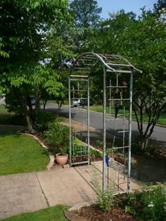 Outdoor Metal Arbor | Arbor Kits Iron Garden Arbor Trellis Buy Metal Arbors  Http Www .