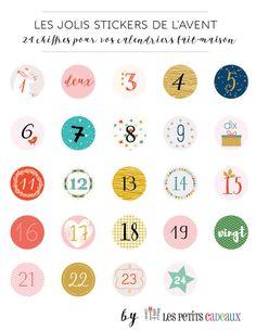 24 étiquettes numérotées pour le calendrier de l'Avent (...)