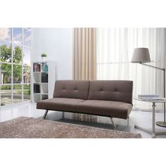 @Overstock.com - Jacksonville Mocha Fabric Futon Sofa Bed - This multi-functional contemporary futon sofa bed adds comfort and style to your home. This European style click clack sofa bed with split seat back. This sofa bed designed with maximum comfort in mind.  http://www.overstock.com/Home-Garden/Jacksonville-Mocha-Fabric-Futon-Sofa-Bed/7894627/product.html?CID=214117 $361.19