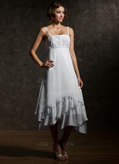 Empire Asymmetrical Chiffon Wedding Dress With Lace Cascading Ruffles (002000024) http://www.dressdepot.com/Empire-Asymmetrical-Chiffon-Wedding-Dress-With-Lace-Cascading-Ruffles-002000024-g24 Wedding Dress Wedding Dresses #WeddingDress #WeddingDresses