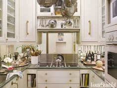 "A 48-square-foot kitchen in New York City. ""To fit everything in, I had to shave every element of the design,"" designer Stephanie Stokes says."