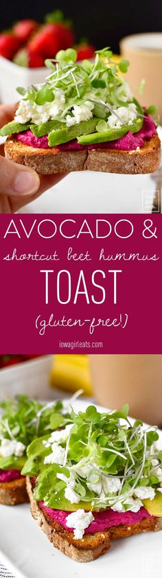 Five Approaches To Economize Transforming Your Kitchen Area Avocado And Shortcut Beet Hummus Toast Is A Nutritional Powerhouse Eat For Breakfast To Power Through Your Morning, Or Anytime You Need A Boost. Effectively Made Gluten-Free, Too Beet Recipes, Avocado Recipes, Vegetarian Recipes, Snack Recipes, Cooking Recipes, Healthy Recipes, Paleo Meals, Sandwich Recipes, Quiches