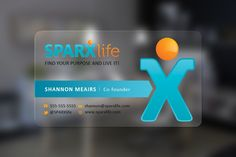 New and edgy Business card for a hot tech startup! SPARXlife by Kelvin & Cynthia