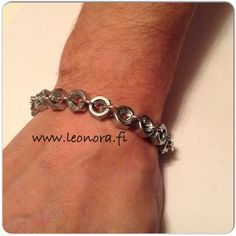 www.leonora.fi Mens bracelet, washer, Leonora