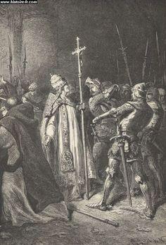L'attentat d'Anagni (1303). La mort de Boniface VIII met un terme au conflit qui l'opposait à Philippe IV le Bel à propos de la sujétion temporelle des rois de France à la Papauté.