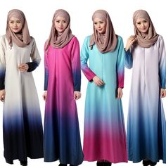 Robe Musulmane Djellaba Summer Dresses In The Middle East Muslim Gown Posed Dress 035 Malaysian Female Rainbow Gradient Muslim Gown, Muslim Long Dress, Abaya Designs, Style Caftan, Cheap Dresses, Summer Dresses, Maxi Kaftan, Islamic Clothing, Dress Picture
