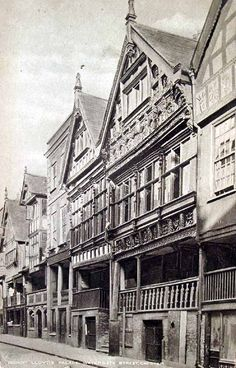 Bishop Lloyd's Palace, Watergate Street, Chester. #postcards