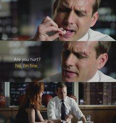 "Donna: ""Tell me he looks worse."" Harvey: ""He does."" --- One of the most beautiful Harvey/Donna scenes ❤❤ Don't you agree?  #Suits #Darvey #Harvey #Donna #HarveySpecter #DonnaPaulsen #SarahRafferty #GabrielMacht #OTP #love #beautiful #Suitsusa #S03E08"
