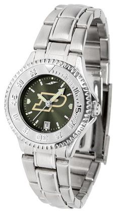 Purdue Boilermakers Ladies Competitor Steel Watch With AnoChome Dial