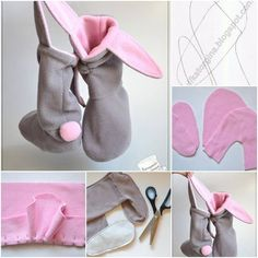 "<input class=""jpibfi"" type=""hidden"" >Here's a nice DIY project to make a pair of lovely bunny slippers. They look so warm and comfortable! You can customize the colors and decorations to create your own style. This might be a great Easter gift. Happy crafting! Here…"