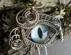 Gothic Steampunk Eye Hair Pins by Twisted by twistedsisterarts, $24.95