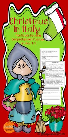 Christmas In Italy Non Fiction Reading Comprehension Passage For Grades 1 3