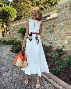 Short Summer Dresses, White Dress Summer, Simple Dresses, Elegant Summer Dresses, Classy Outfits, Chic Outfits, Fashion Outfits, Womens Fashion, Fashion Clothes