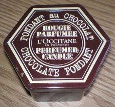 $34.99  L'OCCITANE CHOCOLATE FONDANT PERFUMED CANDLE TIN NEW