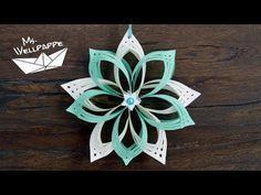 Sterne basteln mit Papier zu Weihnachten: schöne Weihnachtsdeko selber basteln - YouTube