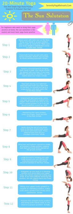 Yoga For Beginners -- The Sun Salutation Let's Kickstart our day with an easy to do Sun Salutation- OM! #fitness #yoga