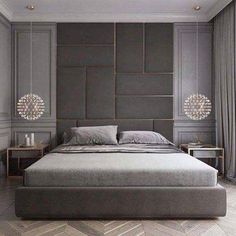 Stunning Luxury Bedroom Design Ideas Make You Feel Relax - A number of interior designers have had successes from previous designs that capture the plain white room into something that can distract an owner de. Modern Luxury Bedroom, Luxury Bedroom Furniture, Luxury Bedroom Design, Master Bedroom Design, Luxury Home Decor, Luxurious Bedrooms, Luxury Interior, Bedroom Decor, Modern Classic Bedroom