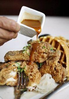 ... Pinterest | Chicken and waffles, Fried chicken and waffles and Waffles