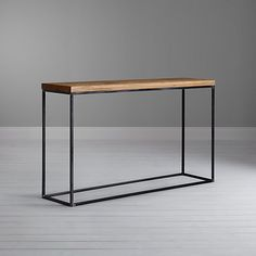 Rh Modern S Kennan Console Table A Single Wooden Drawer