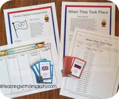With this free activity pack students will get a snippet of history and become familiar with the countries that participate in the Olympic Games.  It includes 6 activities and opportunities for extension.