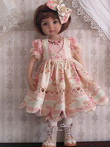 """Shabby Rose OOAK Set Handmade for 13"""" Effner Little Darling 14"""" Kish BJD by JEC   eBay-papillion19"""
