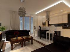 Apartament Kraków II - Salon - Styl Glamour - Ciochoń - Studio (rozwiązanie do przemyślenia)