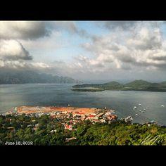 頂上 town view from the top of the #mountain #patyas #coron #island #philippines #フィリピン #リゾート