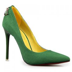 Suede Kelly Green Pumps Suede Shoes, Shoe Boots, Shoes Heels, Shiny Shoes, Pretty Shoes, Beautiful Shoes, Stiletto Pumps, Women's Pumps, Green Pumps