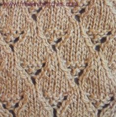 Lace basket knitting stitches