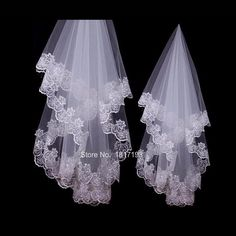Hot Sale Wedding Accessories Veil Voile Mariage White One-Layer Short Bridal Veils Without Comb Lace Edge Bridal Wedding Veil