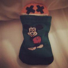 ¿Os gusta mi saco de dormir? #Mickey #Disney #CaminodeSantiago #softtoys #peluches #pelucheando