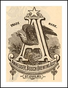 1885 January  Anheuser, Busch Brewing Assn.  St. Louis, MO   LOGO by carlylehold, via Flickr