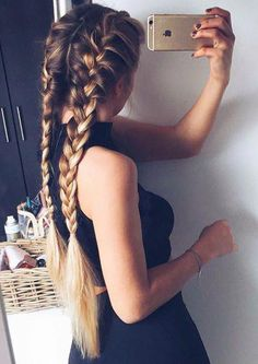 11 simple and simple daily hairstyles for long hair, # beauties # daily . - 11 simple and easy daily hairstyles for long hair, # beauties # Every day - Braided Hairstyles For School, Daily Hairstyles, Cool Braid Hairstyles, Pretty Hairstyles, Hairstyle Ideas, School Hairdos, Hair Ideas, Style Hairstyle, Hairstyles Haircuts