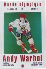 Original vintage poster ANDY WARHOL ICE HOCKEY OLYMPIC