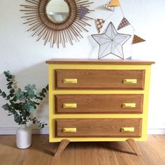 Hey, I found this really awesome Etsy listing at https://www.etsy.com/listing/190589142/chest-of-drawers-50s-yellow-color-model