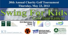 Its Tee Time! Strawberry Farms Golf Club in Irvine will host the 30th Annual Swing For Kids Golf Tournament, a charity tournament to benefit children at the CSP Childrens Shelters and Family Counseling Programs. This special charity golf tournament includes; 18 holes of golf, range balls, BBQ lunch, awards banquet, and silent auction.