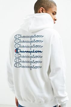 453597dde601a Slide View: 1: Champion Stacked Eco Hoodie Sweatshirt White Champion Hoodie,  New Fashion
