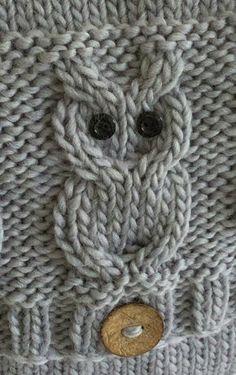 Owl Knitting Pattern, Baby Knitting, Knitting Patterns, Sewing Patterns, Crochet Patterns, Owl Patterns, Owl Cushion, French Pattern, Quick Knits