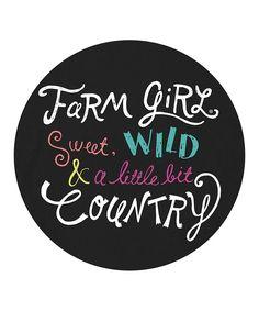 Black 'Farm Girl' Tee
