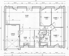 "Photo ""Plan d'origine de la maison"" - Plan de maison Reims, Construction, Sweet Home, Floor Plans, How To Plan, Architecture, Homes, Building, Arquitetura"