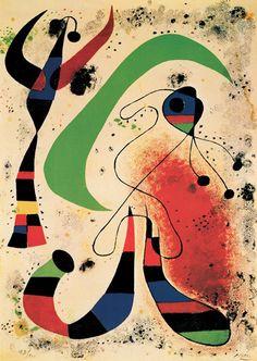 Night Art Print by Miro, Joan Pablo Picasso, Spanish Painters, Spanish Artists, Joan Miro Pinturas, Miro Artist, Abstract Expressionism, Abstract Art, Abstract Landscape, Joan Miro Paintings