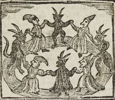 Woodcut depicting witches and demons, taken from a chap-book http://www.ashmolean.org/ashwpress/douceblog/2011/10/31/witches-and-goblins/