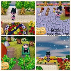 Seaside Dream Address: 4600-2640-1785 Lots of goodies to play with or eat! Edit: Updated! More goodies to dress up in, play with & eat. Also new villagers & landscaping. Stop by to play!