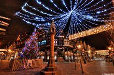 Christmas Lights Snow Scenes