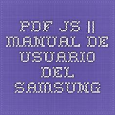 pdf.js || Manual de usuario del Samsung