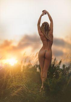 Nude sunbathing cartoon