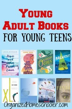 This list of young adult books is a great reading list for young teens. It makes a great homeschool reading list for middle school and high school. adult books Young Adult Books for Young Teens ~ The Organized Homeschooler High School Reading, Middle School Books, Kids Reading, Reading Lists, Book Lists, Reading Library, Reading Fluency, Reading Resources, Kindergarten Reading